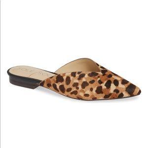 EUC Sole Society Rosemond Calf Hair Leopard Mule